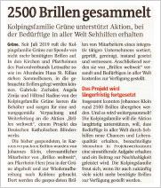 02. Juni 2020 · Iserlohner Kreisanzeiger: 2500 Brillen gesammelt