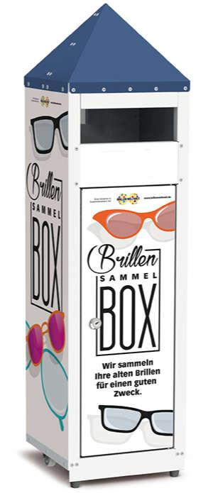 Brillen-Sammelbox aus Metall