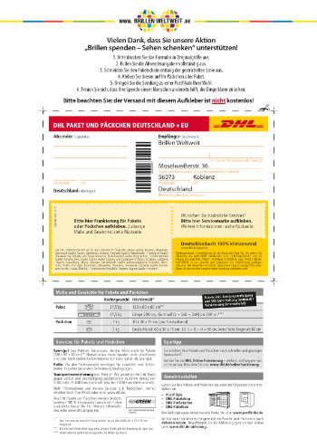 DHL-Paketaufkleber