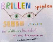 Brillen spenden – Sehen schenken im Weltladen Hochdorf. Wir sind aktiv zugunsten von www.BrillenWeltweit.de