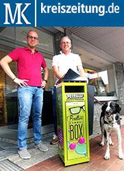 """2018-07-18-Kreiszeitung Syke: Roman Pestrup sammelt fortan für """"Brillen weltweit"""""""